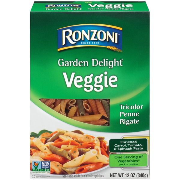 Ronzoni Garden Delight Veggie Tricolor Penne Rigate from Giant Food ...