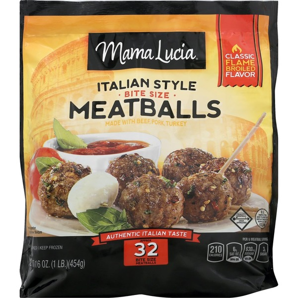 Mama Lucia Italian-Style Mini Meatballs (64 ct) from Food