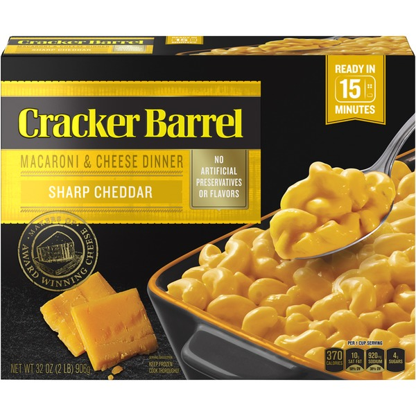 Cracker Barrel Sharp Cheddar Macaroni & Cheese Dinner (32 ...