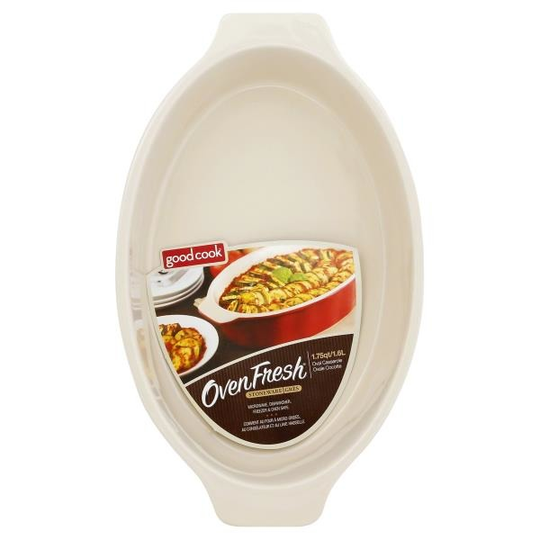Good Cook Pro Oven Fresh Oval Stoneware 1.75 Qt Casserole from ...
