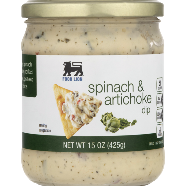 Food Lion Dip Spinach Artichoke Jar 15 Oz Instacart