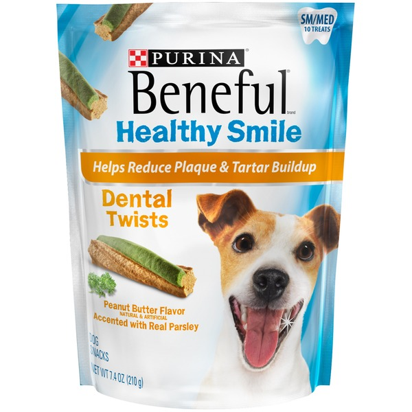 Purina Beneful Healthy Smile Dental Twists Peanut Butter Dog