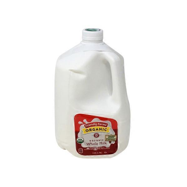 Friendly Farms Organic Whole Milk (128 oz) from ALDI - Instacart