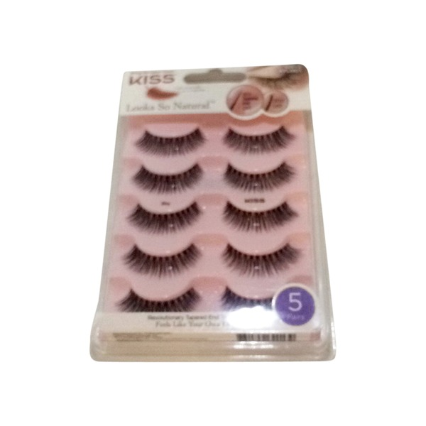 79710a4de6c Kiss KFLM01 Looks So Natural Lashes Multipack (5 pair) from Meijer ...