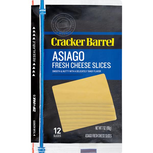 Cracker Barrel Asiago Cheese 12 Slices (7 oz) from Stop & Shop