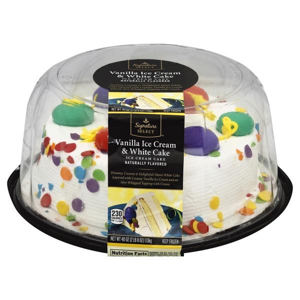Signature Kitchens Decorated Vanilla Ice Cream Chocolate Cake from