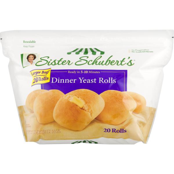 Sister Schubert S Dinner Yeast Rolls 30 Ct Instacart