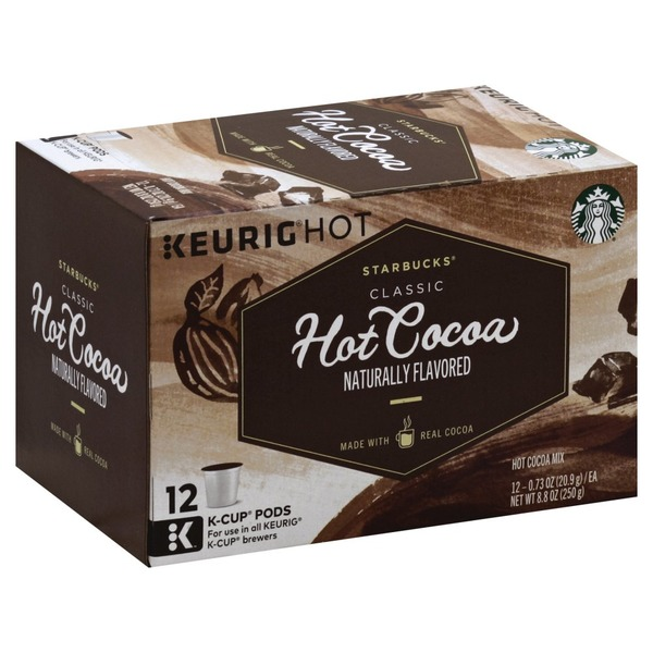 Starbucks Hot Cocoa Mix Classic K Cup Pods 12 Each From