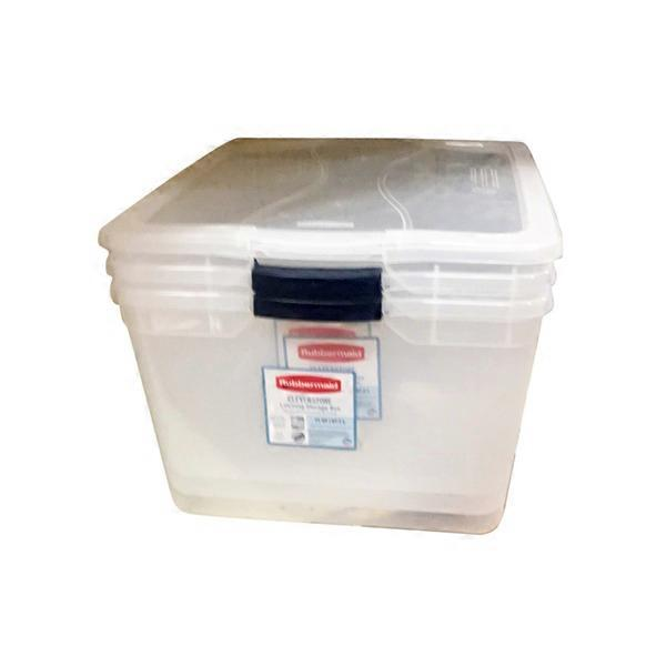 Related Items. . Rubbermaid Clever Store 15 Quart Clear Basic Latch Storage  Bin ...