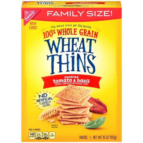 Wheat Thins Sundried Tomato & Basil Crackers (15 oz) from ...