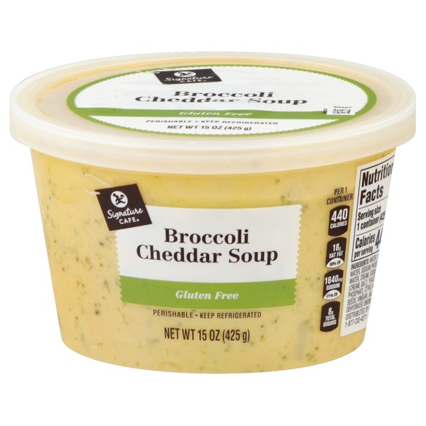 Signature Cafe Rich & Creamy Broccoli Cheddar Soup (15 oz) from Vons - Instacart