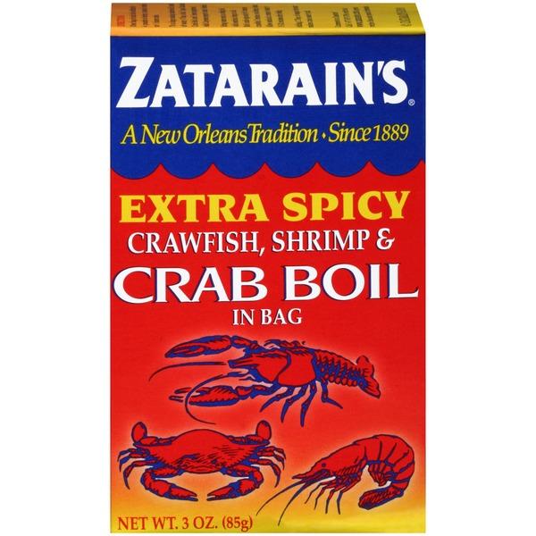 Zatarain S Crawfish Shrimp Crab Boil Extra Spicy Seasoning In