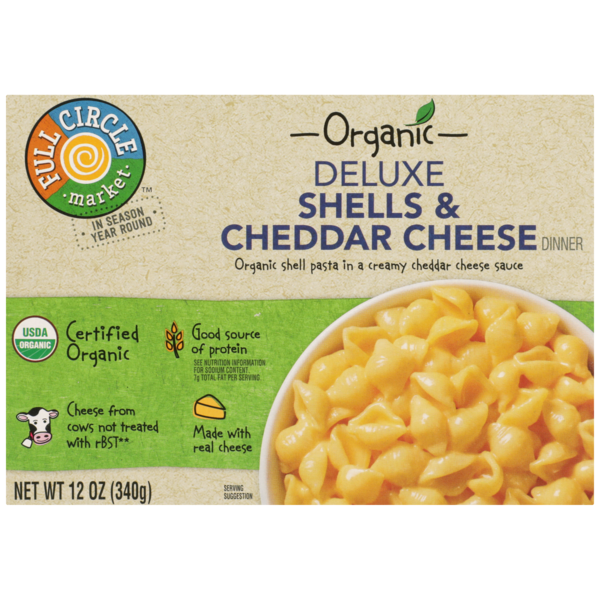Full Circle Deluxe Shells & Cheddar Cheese Dinner