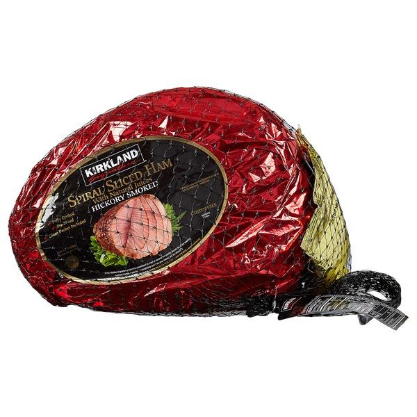Kirkland Signature Spiral Sliced Ham Per Lb From Costco Instacart