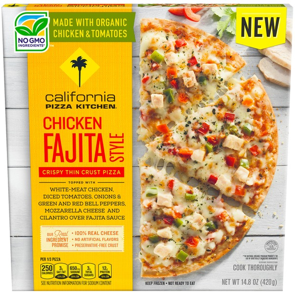 California Pizza Kitchen Chicken Fajita Style Crispy Thin Crust Frozen  CALIFORNIA PIZZA KITCHEN Chicken Fajita Style