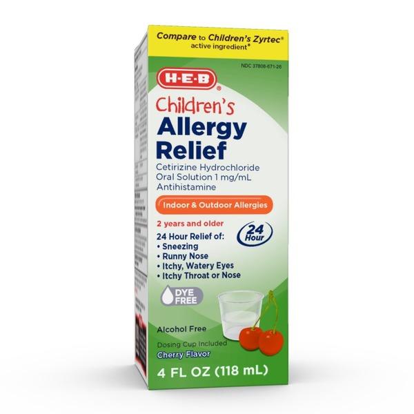H-E-B Allergy Relief Children's Oral Solution (Antihistamine) 24 Hr