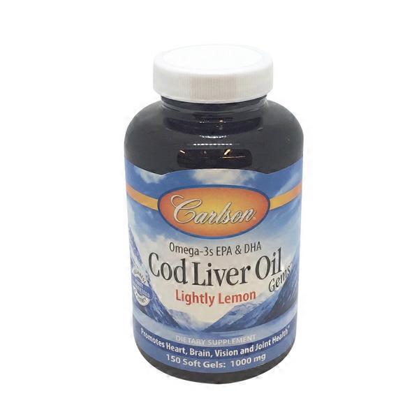 Carlson labs norwegian cod liver oil lightly lemon 1000 mg for Carlson s fish oil lemon