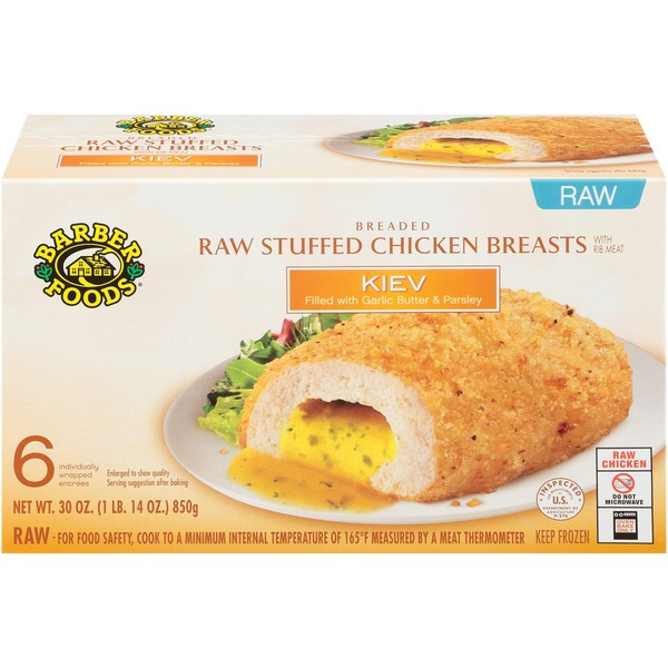 Barber Foods Kiev Raw Stuffed Chicken Breasts From Giant Food
