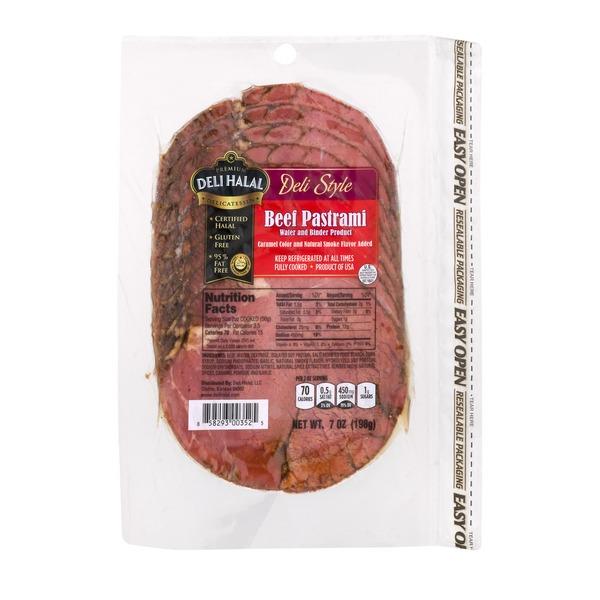 Deli Halal LLC  Deli Halal Beef Pastrami Deli Style (7 oz