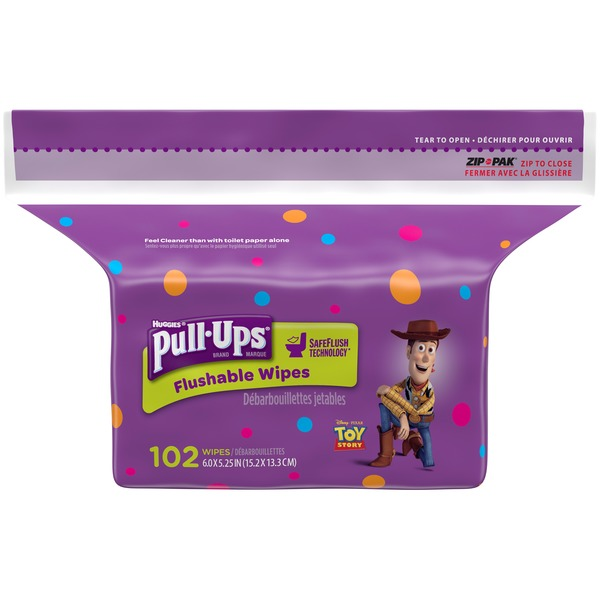 Pull-Ups Big Kid* Flushable Wipes (102 ct) from Vons - Instacart