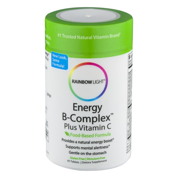 Rainbow Light Energy B Complex Plus Vitamin C Dietary Supplement