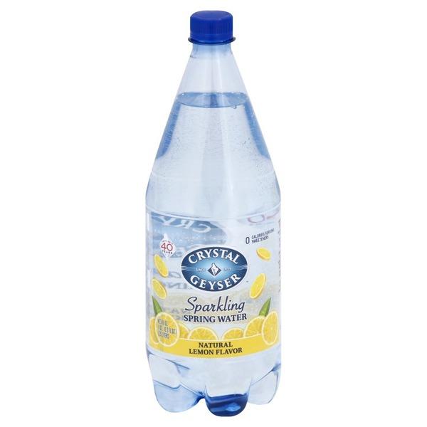Crystal Geyser Sparkling Spring Water, Natural Lemon Flavor