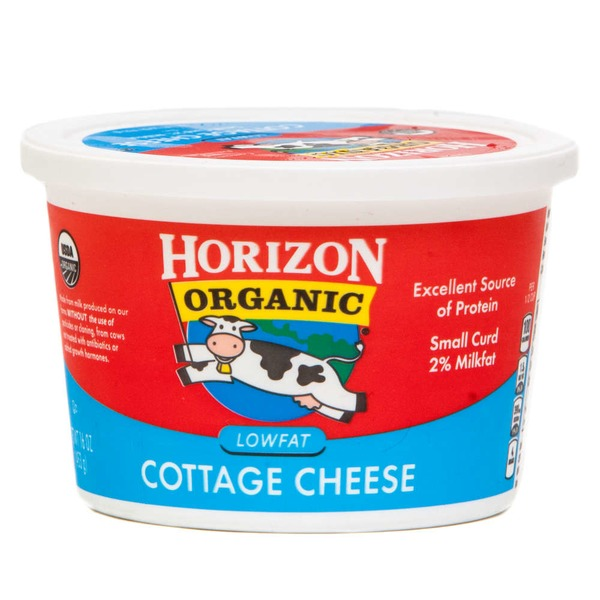 horizon organic lowfat small curd cottage cheese from fairway market rh instacart com horizon organic cottage cheese pasteurized horizon organic cottage cheese nutrition facts