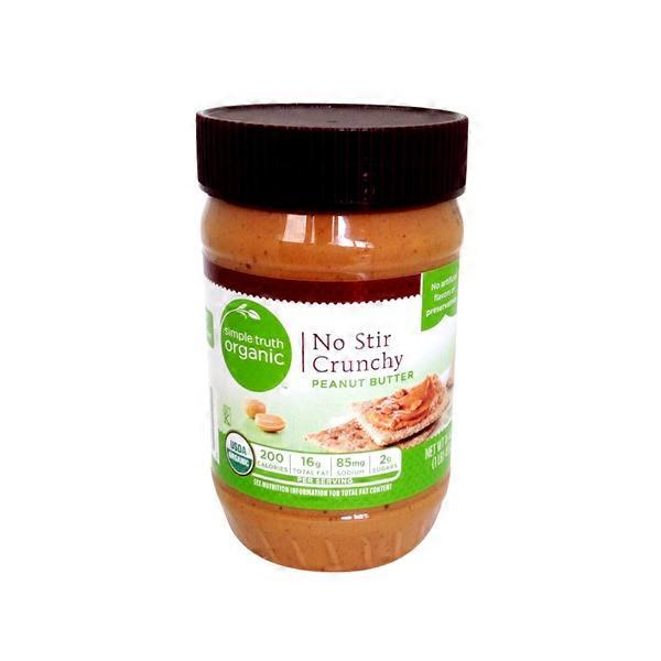 Organic no stir peanut butter