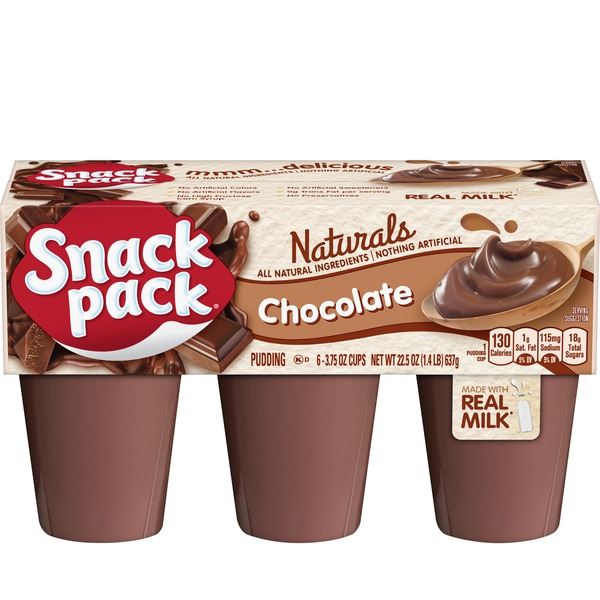 Snack Pack Naturals Pudding Chocolate 22 5 Oz From Big Y World