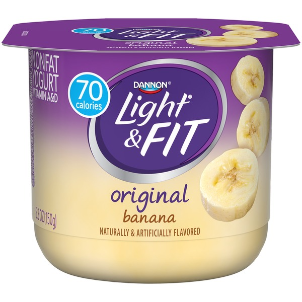 Dannon Light U0026 Fit Original Banana Nonfat Yogurt