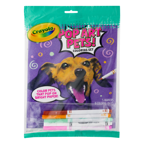 Crayola Coloring Set Pop Art Pets! (1 ct) from Giant Food ...