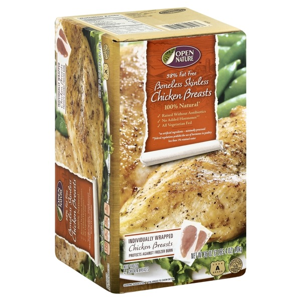Open Nature Chicken Breasts, Boneless Skinless (36 oz) from