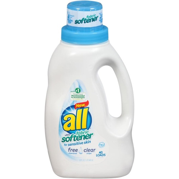 All Free Clear for Sensitive Skin 40 Loads Fabric Softener