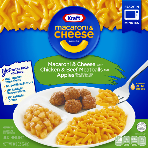 Kraft Macaroni Cheese With Chicken Beef Meatballs And Apples Dinner 8 5 Oz From Stop Shop Instacart