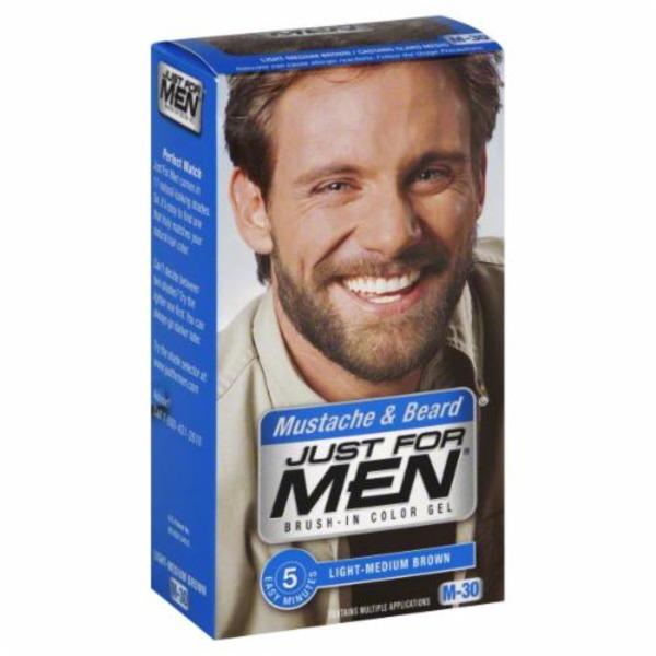 Just For Men Mustache & Beard Brush-In Color Gel Application Kit ...