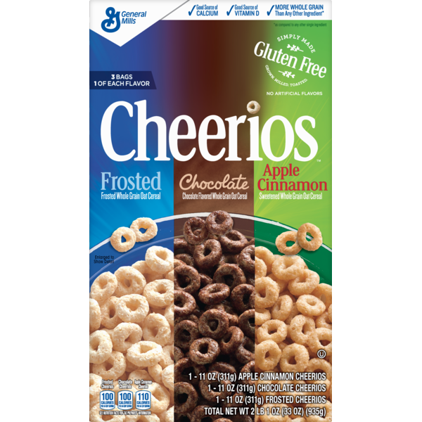 Cheerios Frosted/Chocolate/Apple Cinnamon Cereal Variety Pack