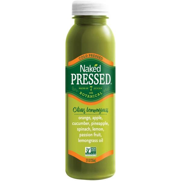 Naked Cold Pressed Juice, Bright Greens, 12 oz Bottle