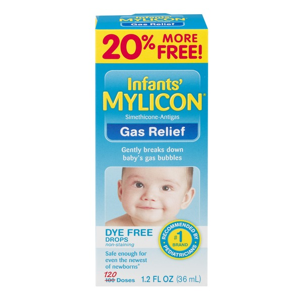 Mylicon Infants' Dye Free Drops Gas Relief (1 2 fl oz) from