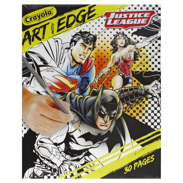 Crayola Coloring Pages Art With Edge Justice League From Giant