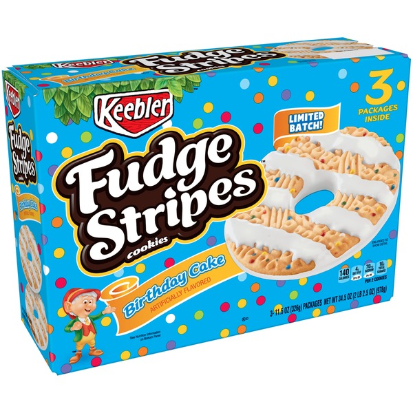 Keebler Fudge Stripes Birthday Cake Cookies