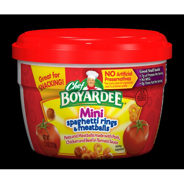 Chef Boyardee Mini Spaghetti Rings & Meatballs (7 5 oz) from Meijer