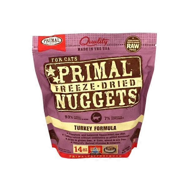 Primal Pet Foods Freeze-Dried Nuggets Feline Turkey (14 oz
