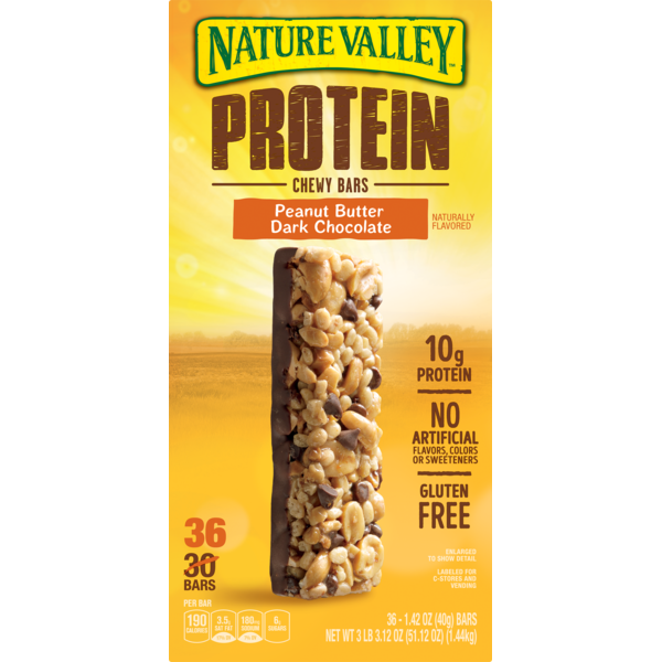 Nature Valley Peanut Butter Dark Chocolate Protein Chewy