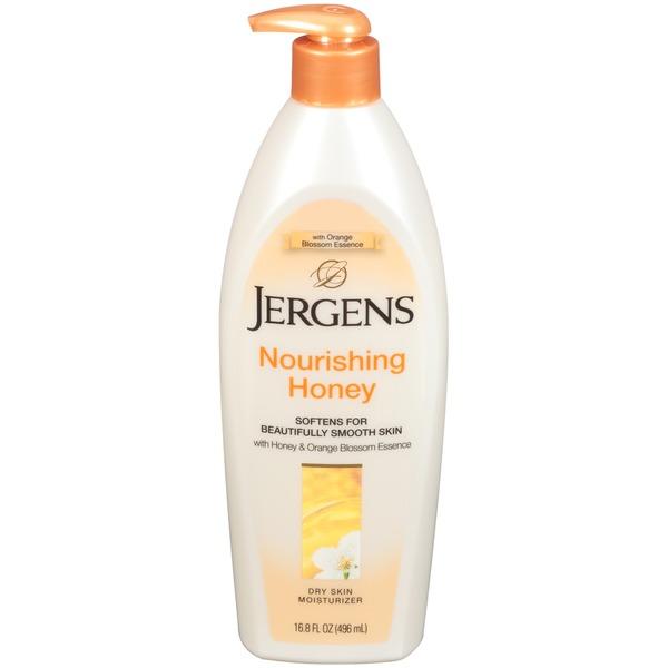 jergens nourishing honey with honey orange blossom essence dry