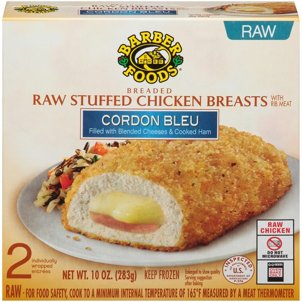 Barber foods breaded raw stuffed chicken breasts cordon blue 2ct barber foods breaded raw stuffed chicken breasts cordon blue 2ct forumfinder Image collections