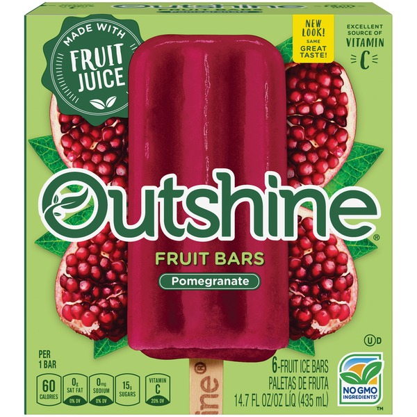 Outshine Pomegranate Fruit Bars From Whole Foods Market Instacart