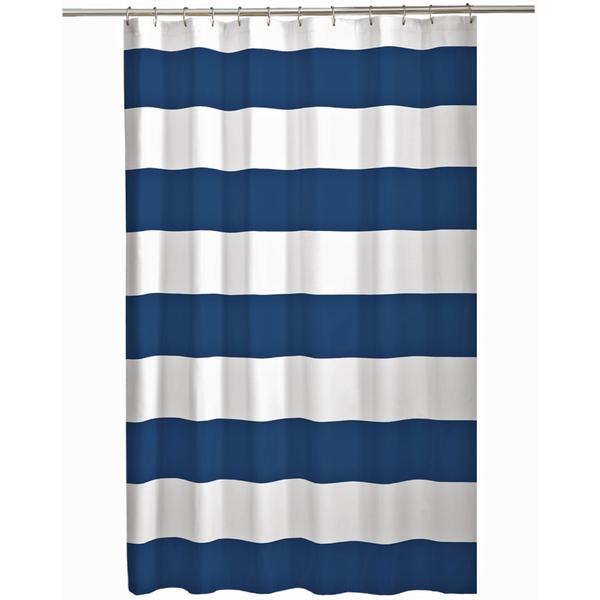 Maytex Navy White Porter Cabana Stripe Shower Curtain from Fred ...