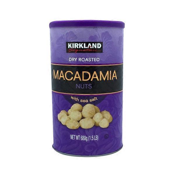 Kirkland Signature Dry Roasted Macadamia Nuts With Sea Salt