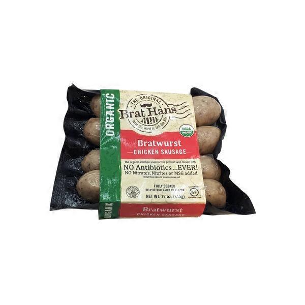 Brat Hans Organic Bratwurst Chicken Sausage 12 Oz From Whole