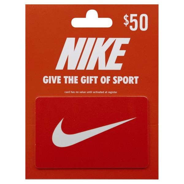 Nike Gift Card 50 1 Ea From Kroger Instacart Zip Code Check